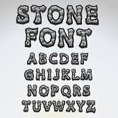 Stone alphabet - find more fonts in my portfolio