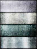 Постер, плакат: Баннеры набор металлической текстуры