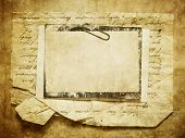 image of memory stick  - Vintage background with old paper - JPG