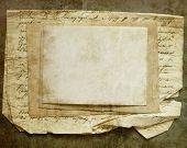 Постер, плакат: Винтажные фон с старой бумаги и письма