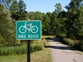 pic of bike path  - bike path and sign - JPG