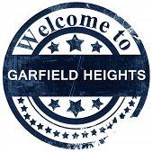 Постер, плакат: garfield heights stamp on white background