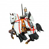stock photo of battle  - Medieval knight  - JPG