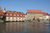 foto of regnitz  - Houses at Little Venice in the city of Bamberg Germany - JPG