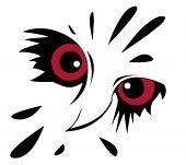 Постер, плакат: векторной графикой совы на белом фоне