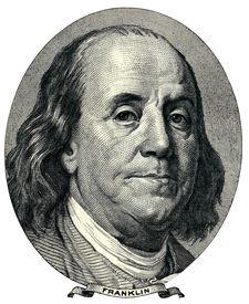stock photo of one hundred dollar bill  - dollar detail - JPG
