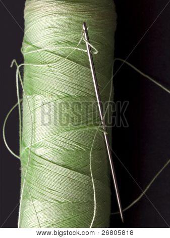 needle in the green bobbin