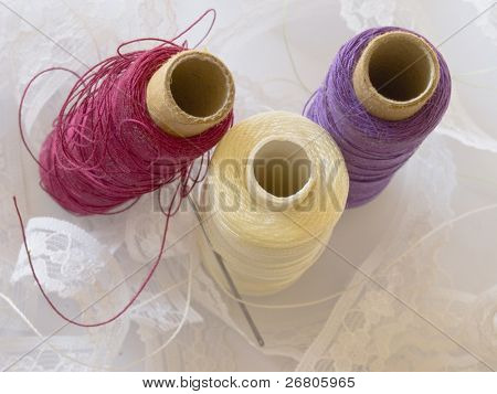 bobbins and lace