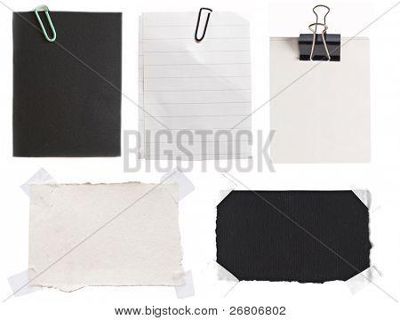 colección de notas de papel blanco y negro