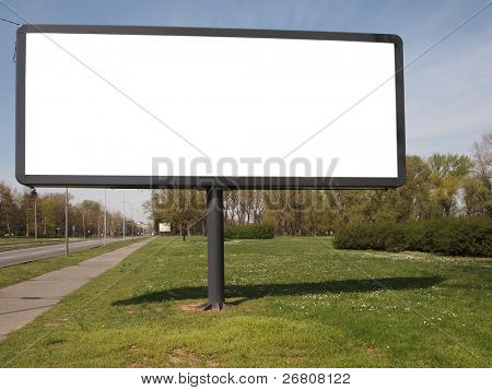 empty billboard for your ad