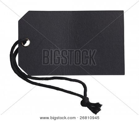 blank black label isolated on the white background