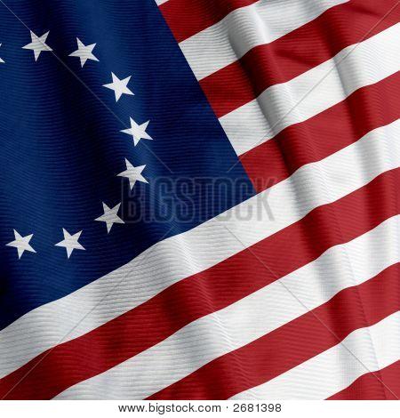 Betsy Ross Flag Closeup