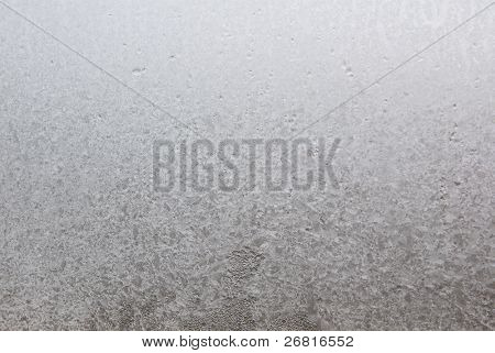 Ice on window glass