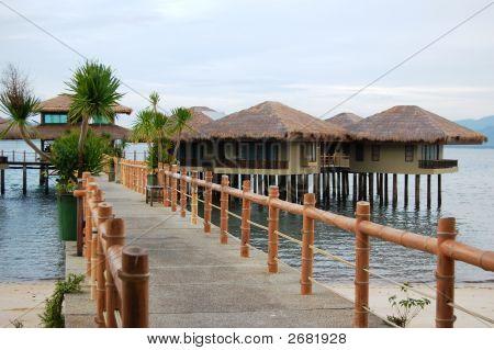 Bridge Or Walkway To Cottage