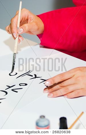 Hand Is Writing The Word