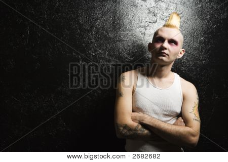 Punk With Crossed Arms.