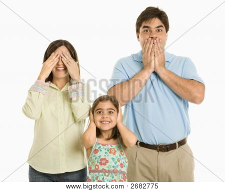 Family Gesturing.
