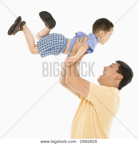 Father Lifting Son.