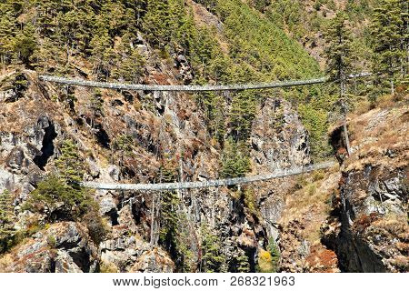 Two Rope Hanging Suspension Bridges
