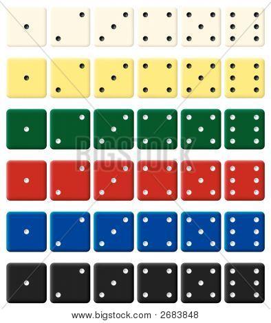 Color Dices Set.