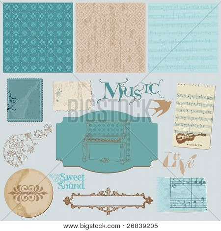 Scrapbook design elements - Vintage Music Set