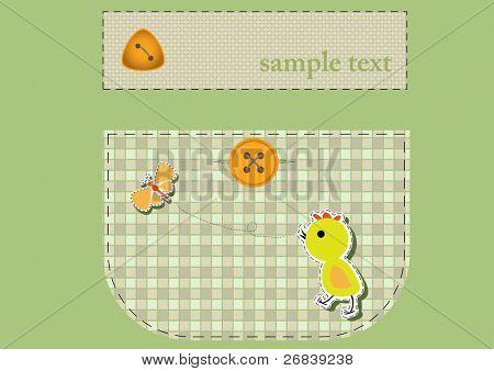 cute application on the pocket . Vector illustration
