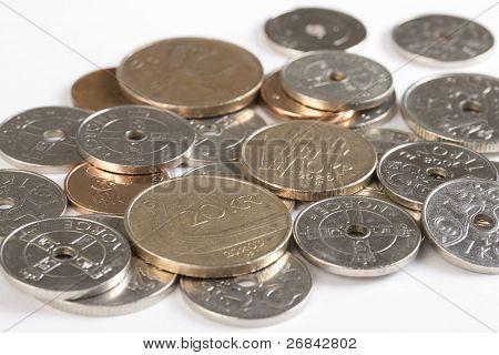Closeup Of Norwegian Money.