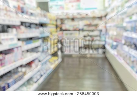 Pharmacy Store Or Drugstore Blur