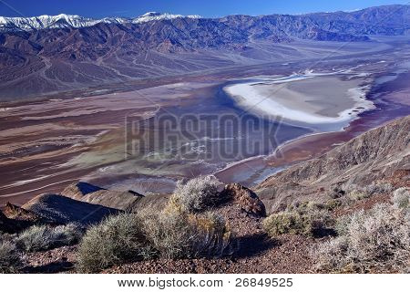 Badwater From Dante View With Panamint Mountains Death Valley National Park California