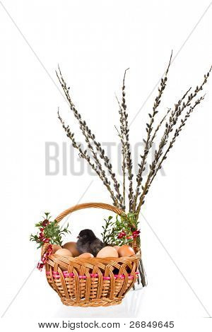easter decoration isolated on white background