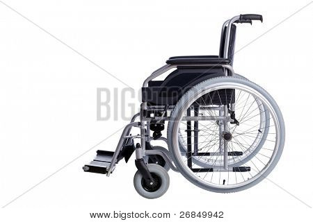Black Wheelchair isolated on white background