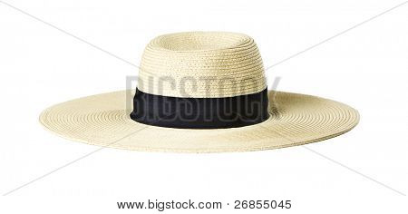 Woman's Sun Hat on white