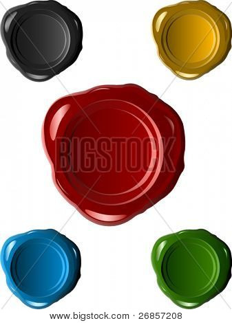 Red wax seals (gradient only) 5 colors