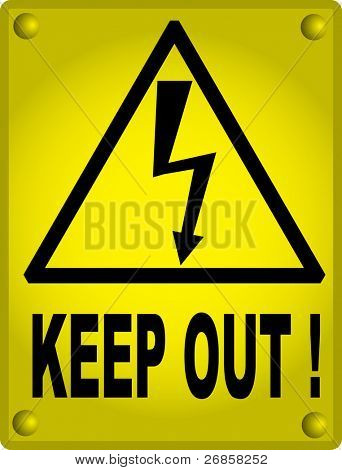 High voltage sign, keep out