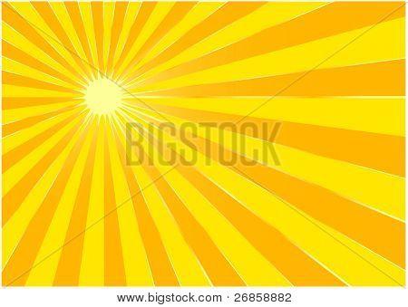 The yellow summer sun - background ( illustration)