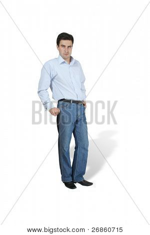 isolated manager at white background