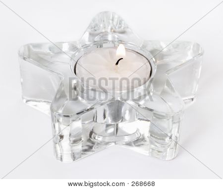 White Candle In Star