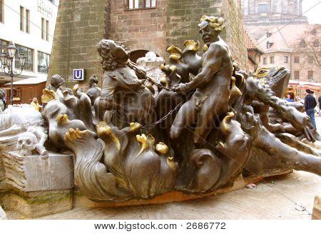Marriage Merry-Go-Round Fountain (Ehekarusell) - Nurenberg, Germ