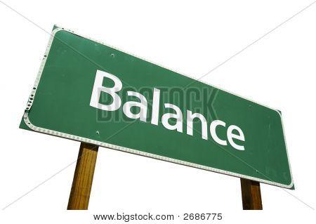 Balance- Road Sign