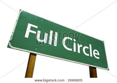 Círculo completo - sinal de estrada