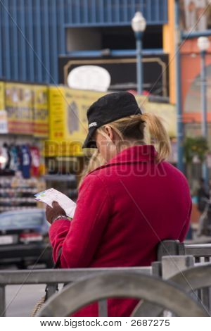 Trendy Woman At A Street Corner