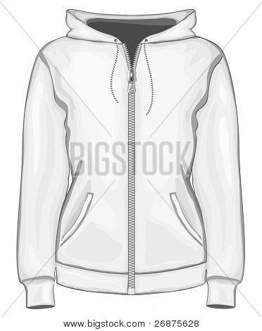 Vector. Women's hoodie.