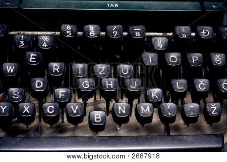 Writer Concept - Typewriter Keyboard