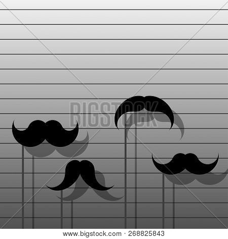 Vector Hipster Image With Mustache