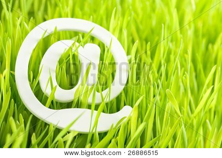 e-mail and fresh grass