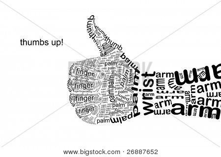 Thumb Up Gesture (hand is made with text symbols)