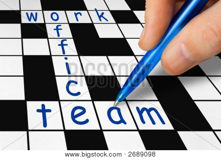 Crossword - Work, Office And Team