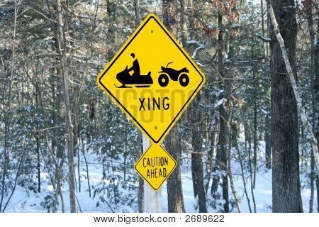 Snowmobile Sign