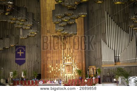Shrine Of The Guadalupe, Church Service, Interior, Mexico City