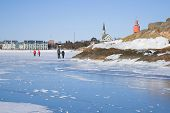 Walk On The Ice Of The Gulf Of Finland On February Morning. Hanko, Finland poster